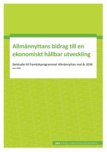 Allmännyttans bidrag till en ekonomiskt hållbar framtid
