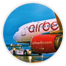 airberlin flies with AMOS