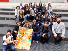 Klass 6C Solbackeskolan gör affisch till Tellusfestivalen 2019
