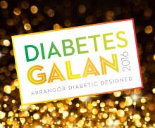 Molly Sandén intervjuas på Diabetesgalan