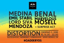 Pressemeddelelse: Red Bull Studios Live #GADEKRYDS indtager Blegdamsvej til Distortion!