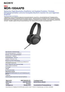 Datenblatt h.ear on von Sony_schwarz