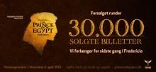 Én måned til verdenspremieren: PRINSEN AF EGYPTEN forlænger i Fredericia for sidste gang efter mere end 30.000 solgte billetter!