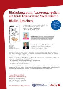 """Einladung zum Autorengespräch """"Risiko Rauchen"""" am 17.10."""