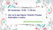 Don't miss out on the opportunity to see Kapow:  Robotic Software Automation in action