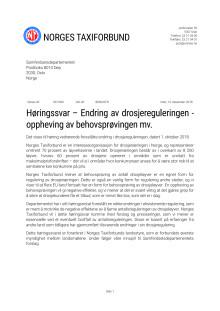 Norges Taxiforbunds høringssvar til SD - 2918