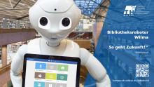 """Bibliotheksroboter """"Wilma"""" der TH Wildau geht vom 22.01- 23.01.20 in das öffentliche Voting um die Hochschulperle des Jahres 2019"""