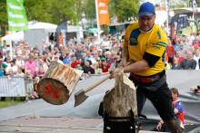 Dubbelt guld och ett brons till Sverige i Nordiska Mästerskapen i STIHL© TIMBERSPORTS©