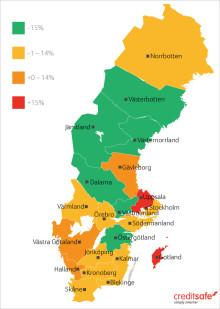 Stabilt nedåtgående trend i antal konkurser 2015. Dalarna och Västmanland är de vinnande länen!