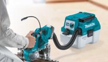 Makita lanserar kompakt batteridriven 18V dammsugare
