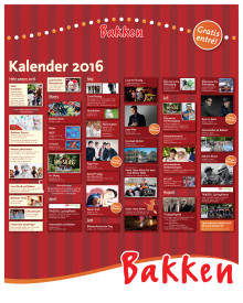 Bakkens Eventkalender 2016