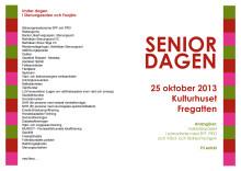 Program seniordagen på Fregatten 25/10