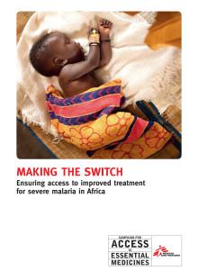 Läkare Utan Gränsers malariarapport 'Making the Switch'