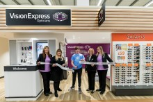 Teen eye cancer survivor joins Vision Express to officially open new optical store at Tesco in Bar Hill