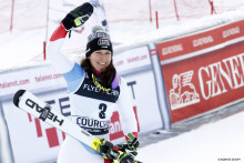 Wendy Holdener's first podium finish in the Giant Slalom