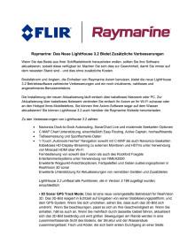 Raymarine: Das Neue LightHouse 3.2 Bietet Zusätzliche Verbesserungen