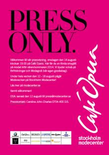 Välkommen till pressvisning på Café Opera