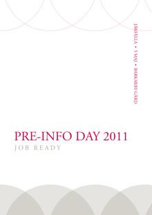 Pre-Info Day 2011 programblad
