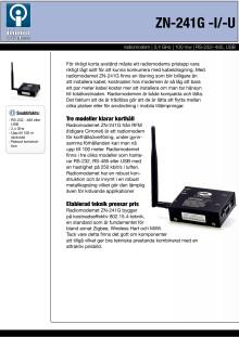 Radiomodem för 2,4 GHz