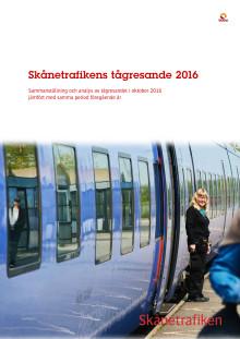 Skånetrafikens tågresande 2016