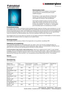 Faktablad - Hammerglass Isoler