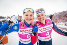 Stina Nilsson och Ida Ingemarsdotter springer Ramundberget Trail