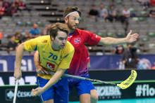 Måns Parsjö-Tegnér var fyra sekunder från att hålla nollan i sin VM-debut mot Norge