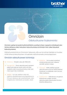 OmniJoin-verkkoneuvotteluohjelman Odotushuone-lisätoiminnot terveydenhuoltoon