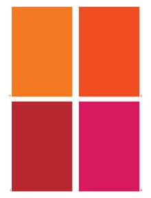 Färgkarta till Lüschers färgtest