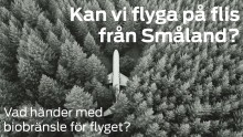 Pressinbjudan: Vad händer med biobränsle för flyget – kan vi flyga på flis från Småland?