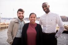 Årets Kompassrosstipendiater är: Shanga Aziz, Hamza Mostafa och Alexandra Tecle