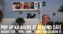 """Inbjudan till världskända amerikanska konstnären Kii Arens """"Pop Up Art Exhibition"""""""