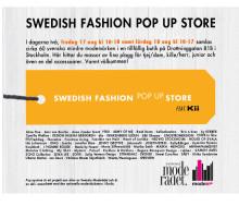 NYHET! SWEDISH FASHION POP UP STORE