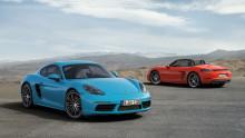 Firecylindret turbomotor for mere power i sving – den nye Porsche 718 Cayman