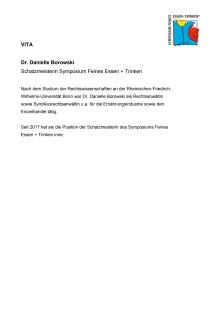 Vita Dr. Danielle Borowski