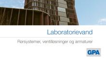 Laboratorievand - Mærsk Panum  - Rørsystemer, ventilløsninger og armaturer