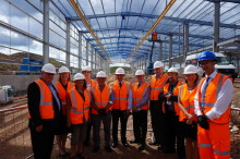 Hitachi Rail Europe celebrates progress on Stoke Gifford Train Maintenance Centre