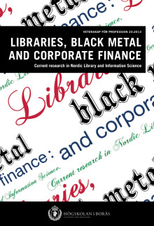 Libraries, black metal and corporate finance