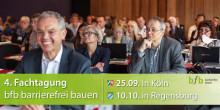 4. Fachtagung bfb barrierefrei bauen in Köln und Regensburg