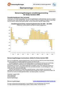 Bemanningsindikatorn halvårsrapport 2009