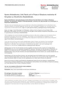 Pressmeddelande: Stockholms stadsbibliotek förnyas