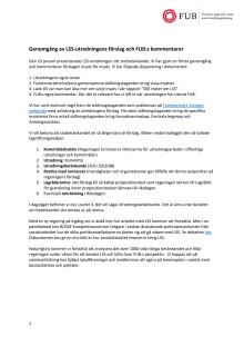 Genomgång av LSS-utredningens förslag och FUBs kommentarer januari 2019