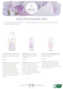 Samlingsblad White Mallow Baby Care