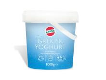 Larsa kompletterar sortimentet med ytterligare en äkta Grekisk yoghurt, nu med 2% fett och 9,5% protein!