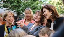 Kronprinsessan Mary av Danmark klippte bandet och invigde ny interaktiv lekplats från KOMPAN.