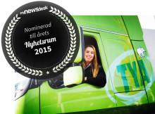 TYA har nominerats till Årets Nyhetsrum 2015 i kategori Transport