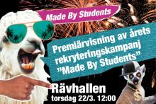 """Högskolan i Gävle premiärvisar de vinnande bidragen i årets rekryteringskampanj """"Made by Students"""""""