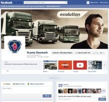 Scania Danmark har succes på Facebook