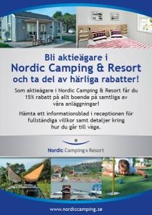 Aktieägarrabatt på Nordic Camping & Resort