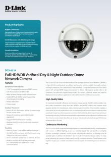 Produktblad - IP-kamera D-Link DCS-6314